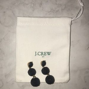 J. Crew black beaded earrings